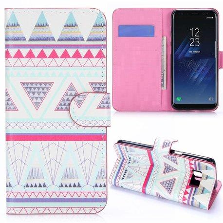driehoeken Samsung S8 portemonnee hoesje