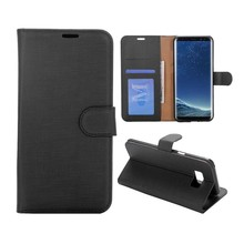Zwart pu leren Galaxy S8 PLUS portemonnee hoesje