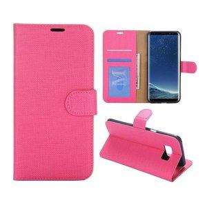 Roze pu leren Samsung Galaxy S8 PLUS portemonnee hoesje