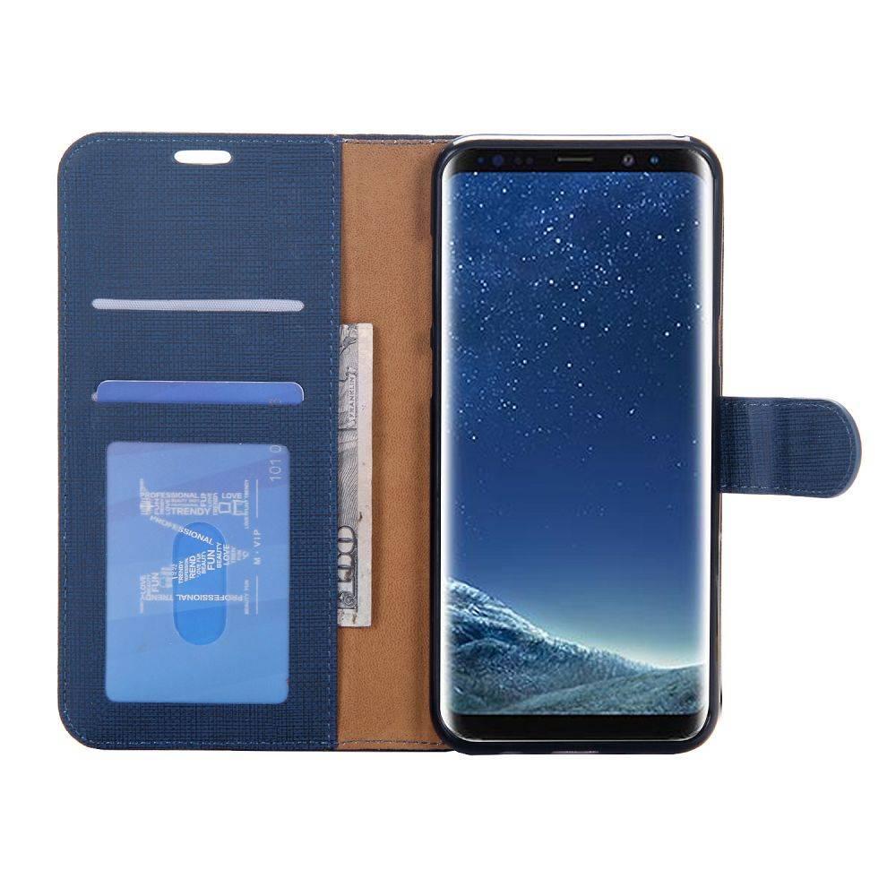 872f7fc2082 Blauw pu leren Samsung Galaxy S8 PLUS portemonnee hoesje