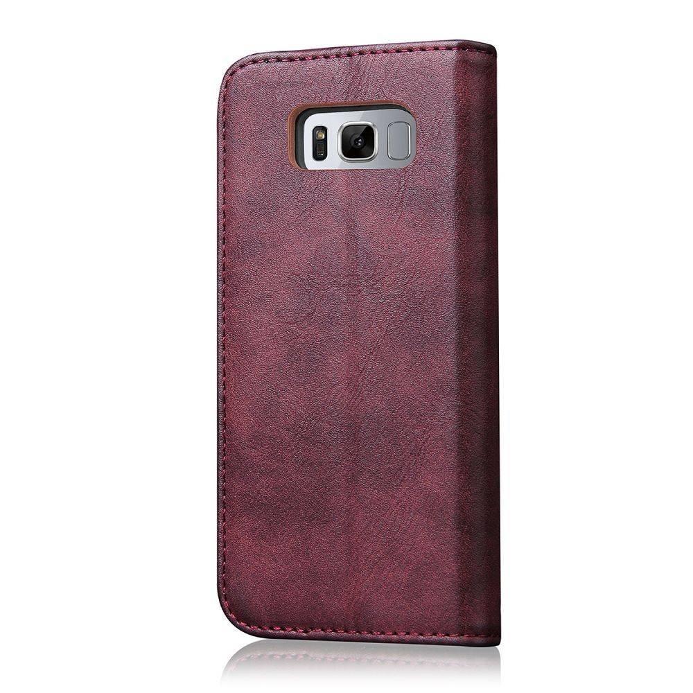 Wijn rode luxe afgewerkt Samsung S8 portemonnee hoesje
