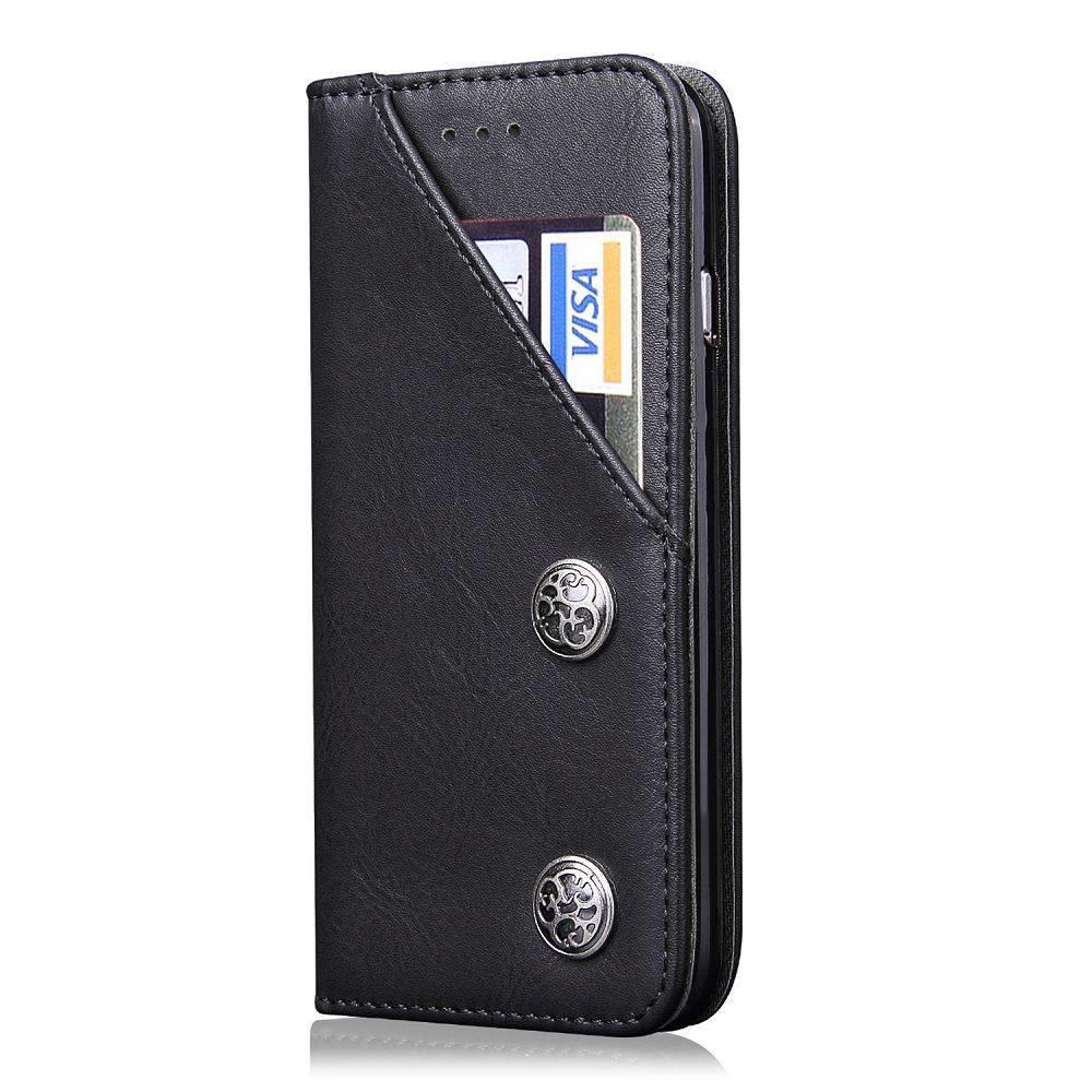 Zwarte luxe afgewerkt Samsung S8 portemonnee hoesje