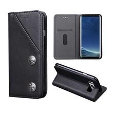 Zwarte luxe afgewerkt Samsung S8 PLUS portemonnee hoesje
