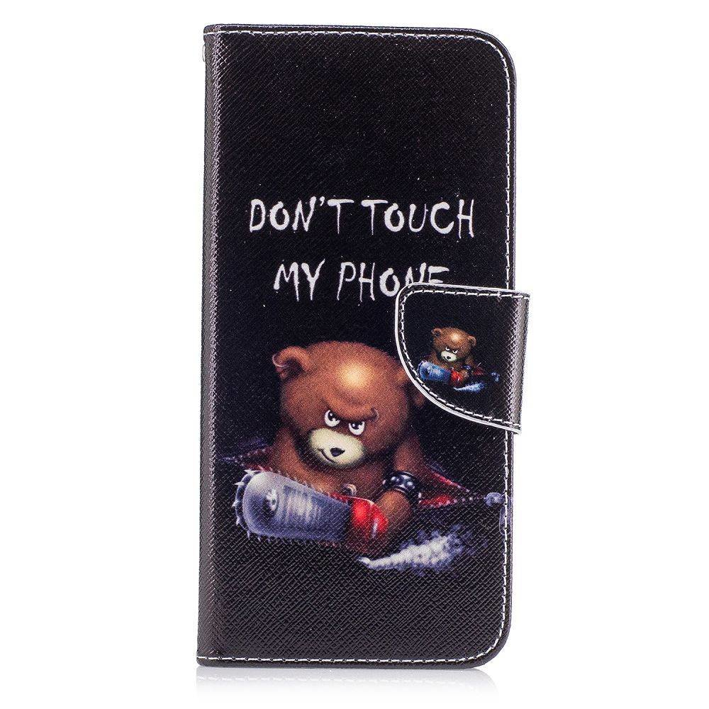 Dont touch my phone II Samsung Galaxy S8 PLUS portemonnee hoesje