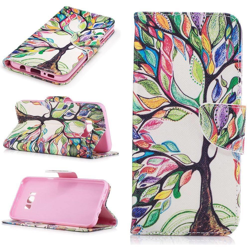 vrolijk geverfde boom Samsung S8 PLUS portemonnee hoesje