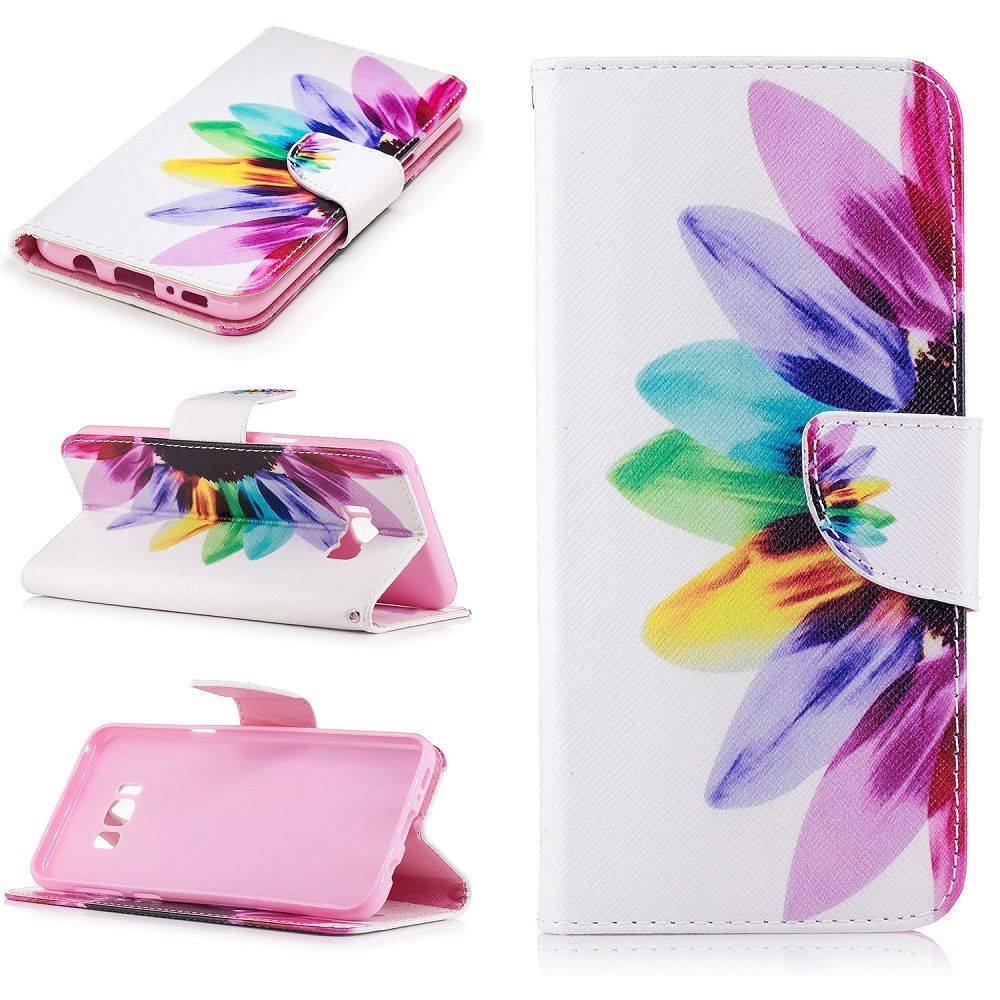 kleurrijke zonnebloem Samsung S8 PLUS portemonnee hoesje