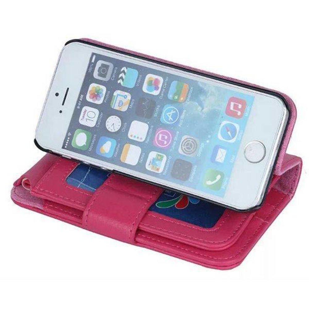 iPhone SE, 5, 5S portemonnee hoes roze