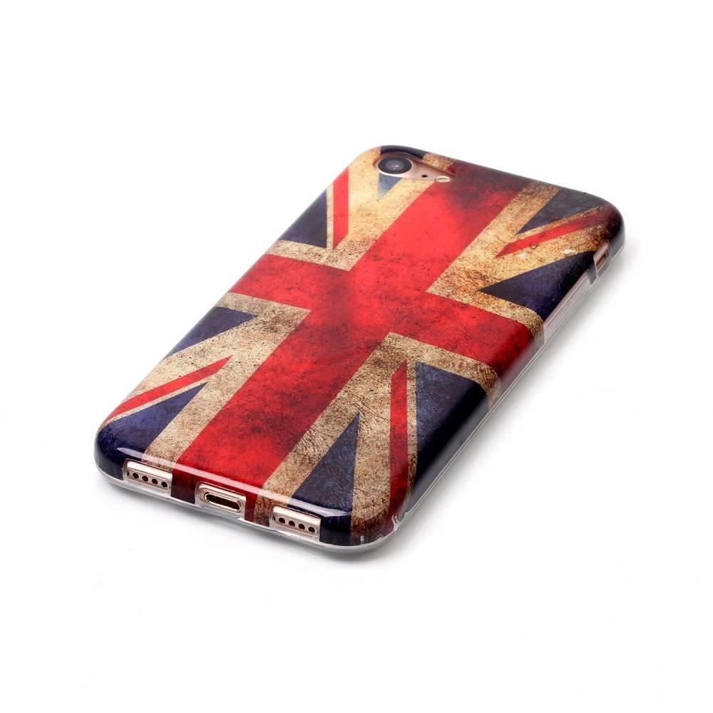 iPhone 7 flexibel hoesje  met de vlag van Engeland