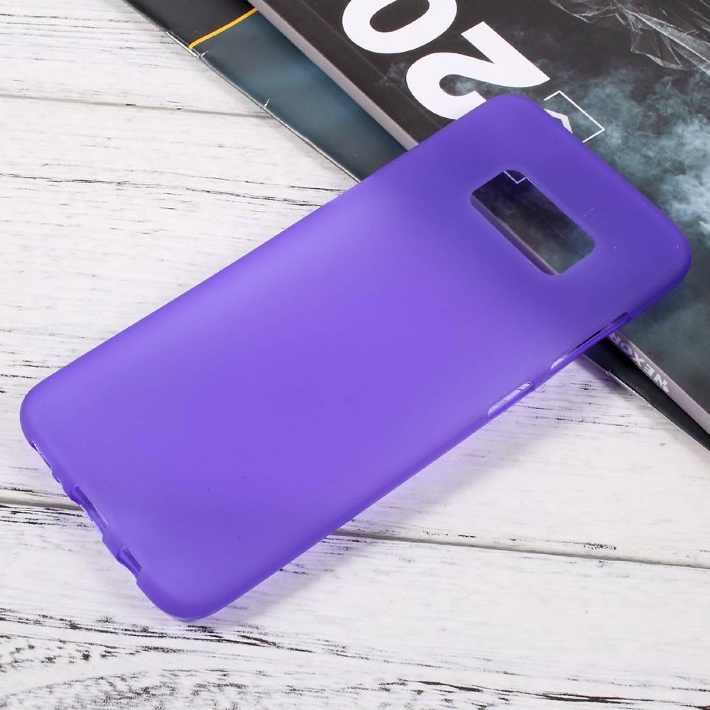 Paars flexibel hoesje voor de Samsung Galaxy S8