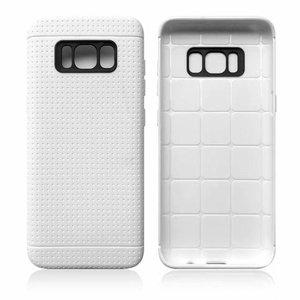 Wit met putjes flexibel hoesje voor de Samsung Galaxy S8