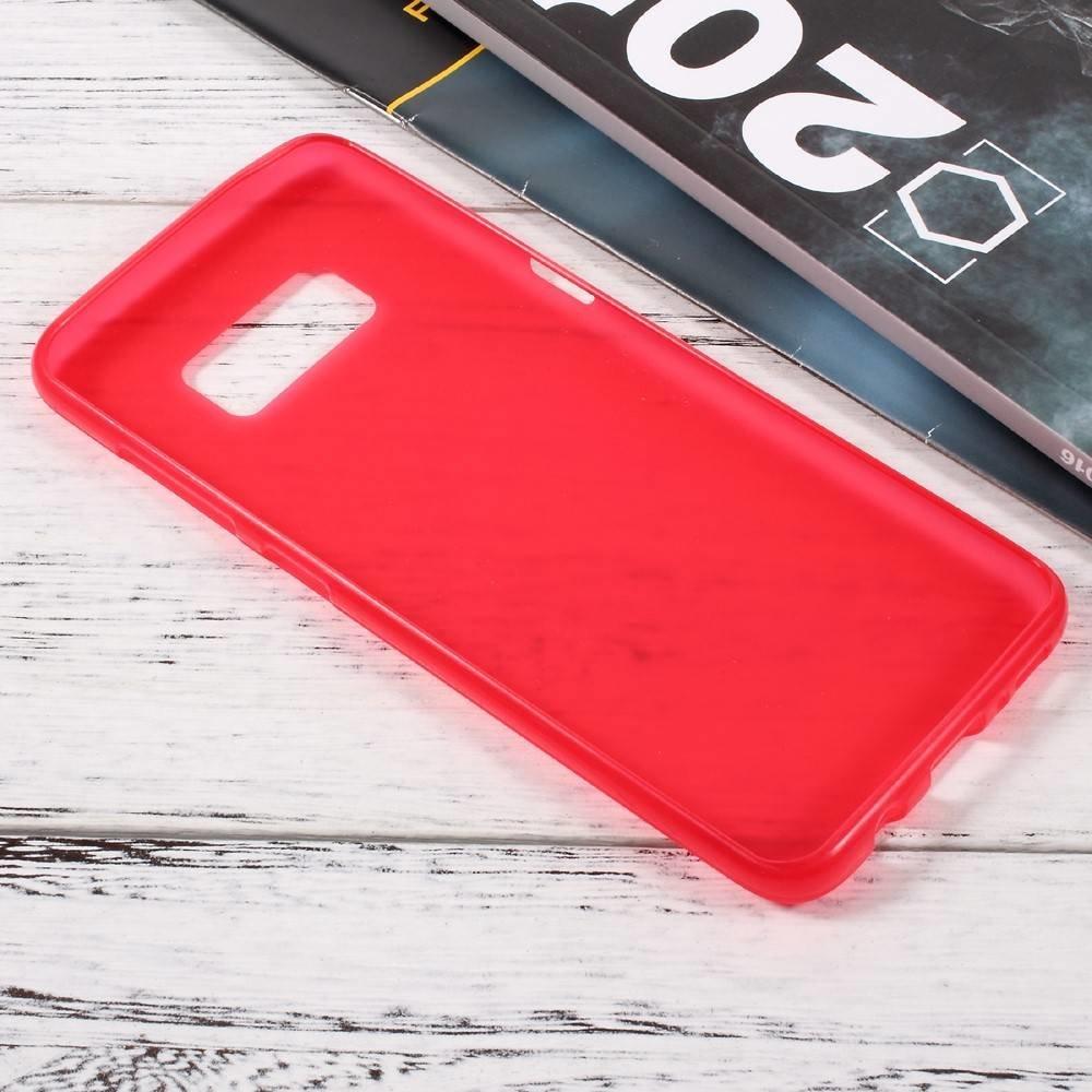 Rood flexibel hoesje voor de Samsung Galaxy S8