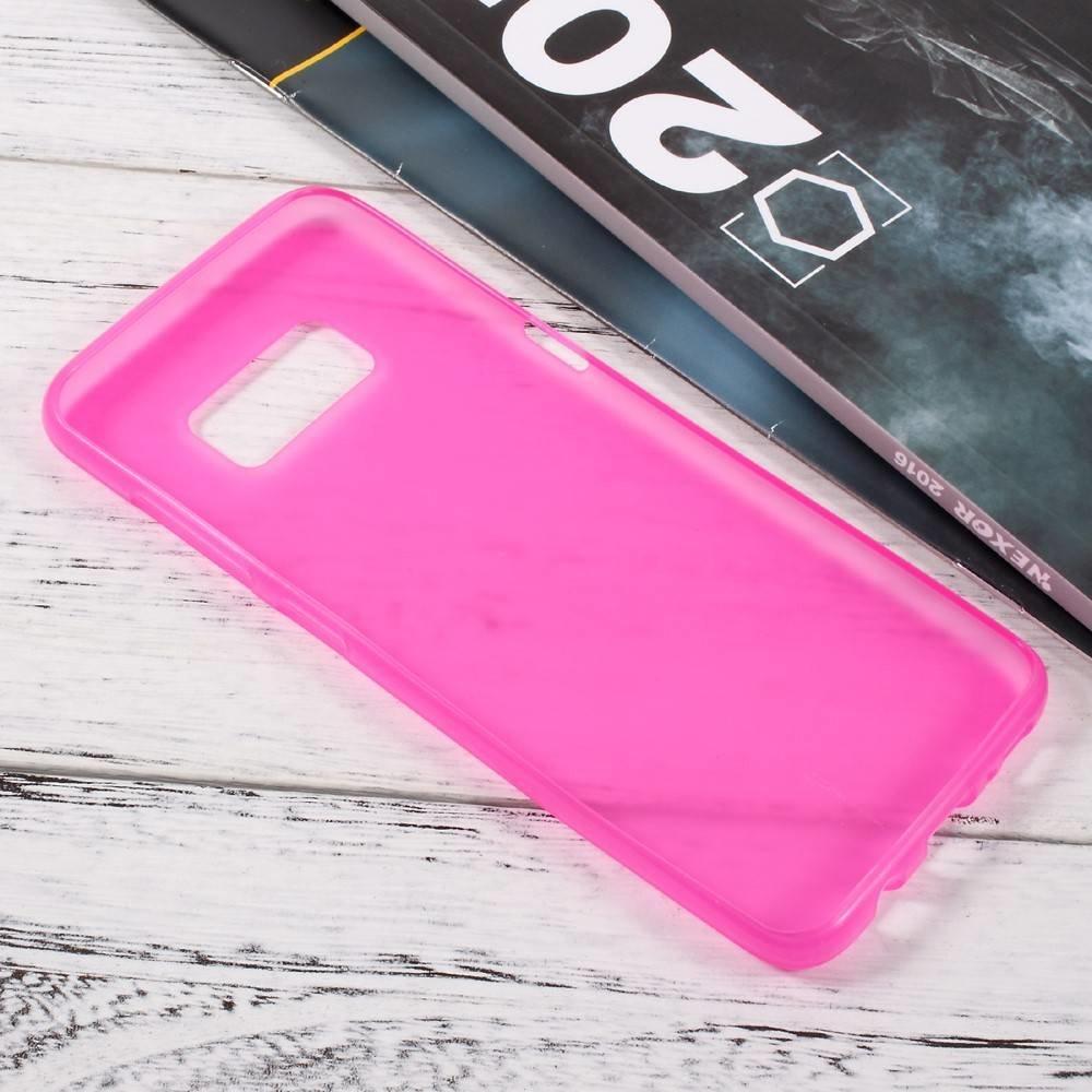 Roze flexibel hoesje voor de Samsung Galaxy S8