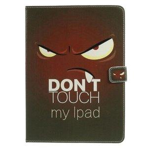 iPad 2017 en Air 1 boekstijl hoes Don't touch my iPad