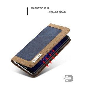 CaseMe Samsung Galaxy S8 Portemonnee hoesje Blauw met bruin
