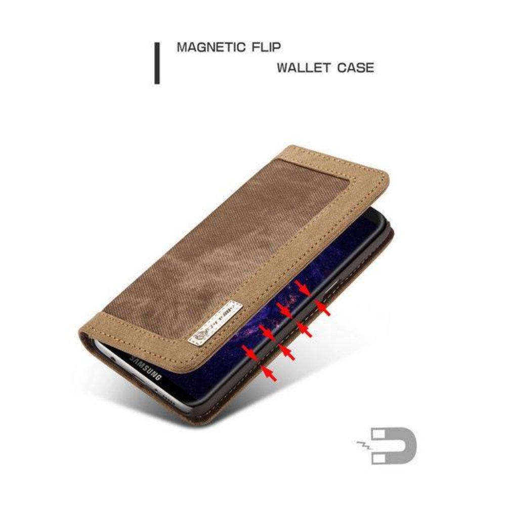CaseMe Samsung Galaxy S8 PLUS Portemonnee hoesje bruin