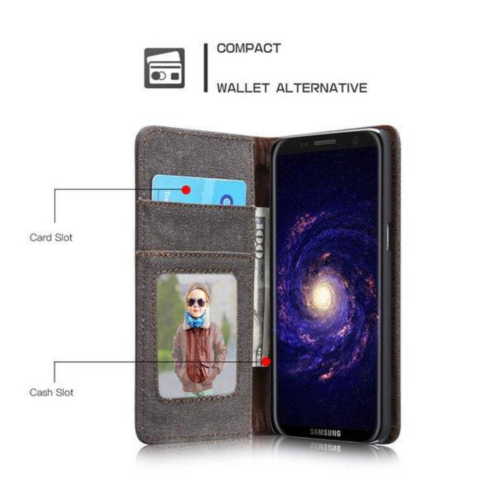 CaseMe Samsung Galaxy S8 PLUS Portemonnee hoesje zwart