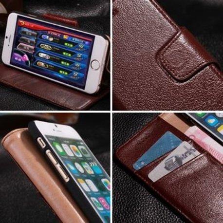 Echt Jak leren iPhone 6 hoesje donker bruin