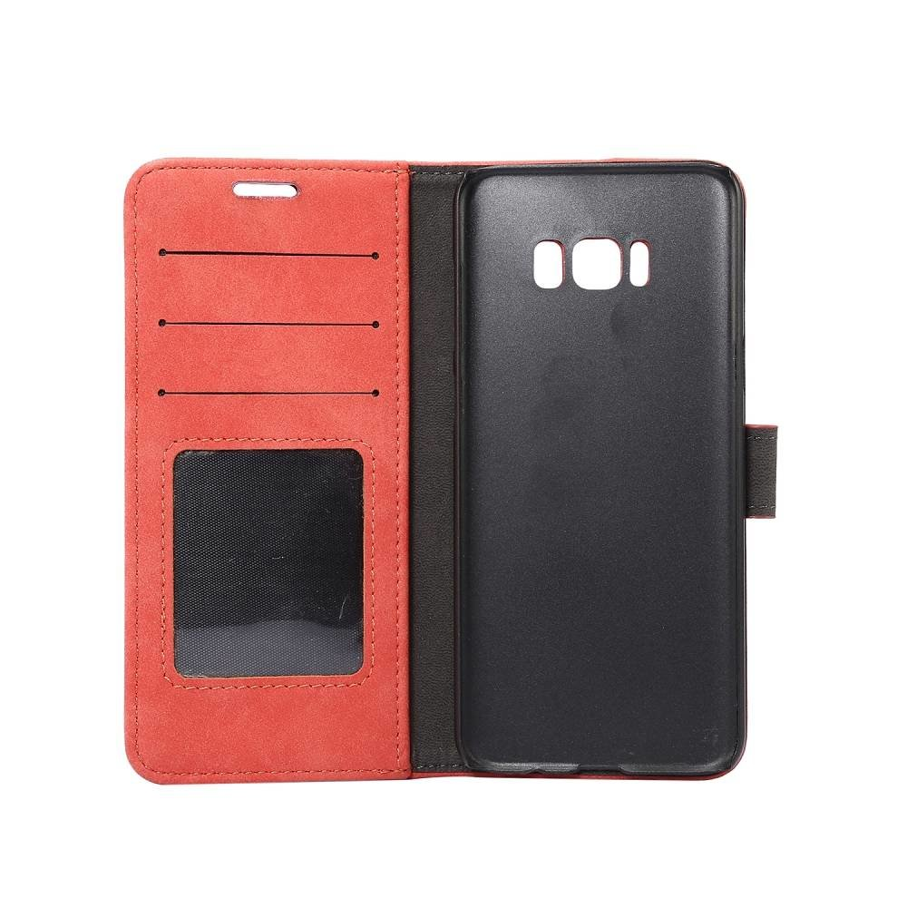 Samsung Galaxy S8 Portemonnee hoesje rood zachte stof