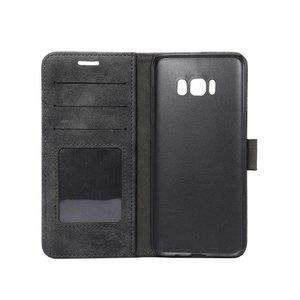 Samsung Galaxy S8 Portemonnee hoesje zwart zachte stof