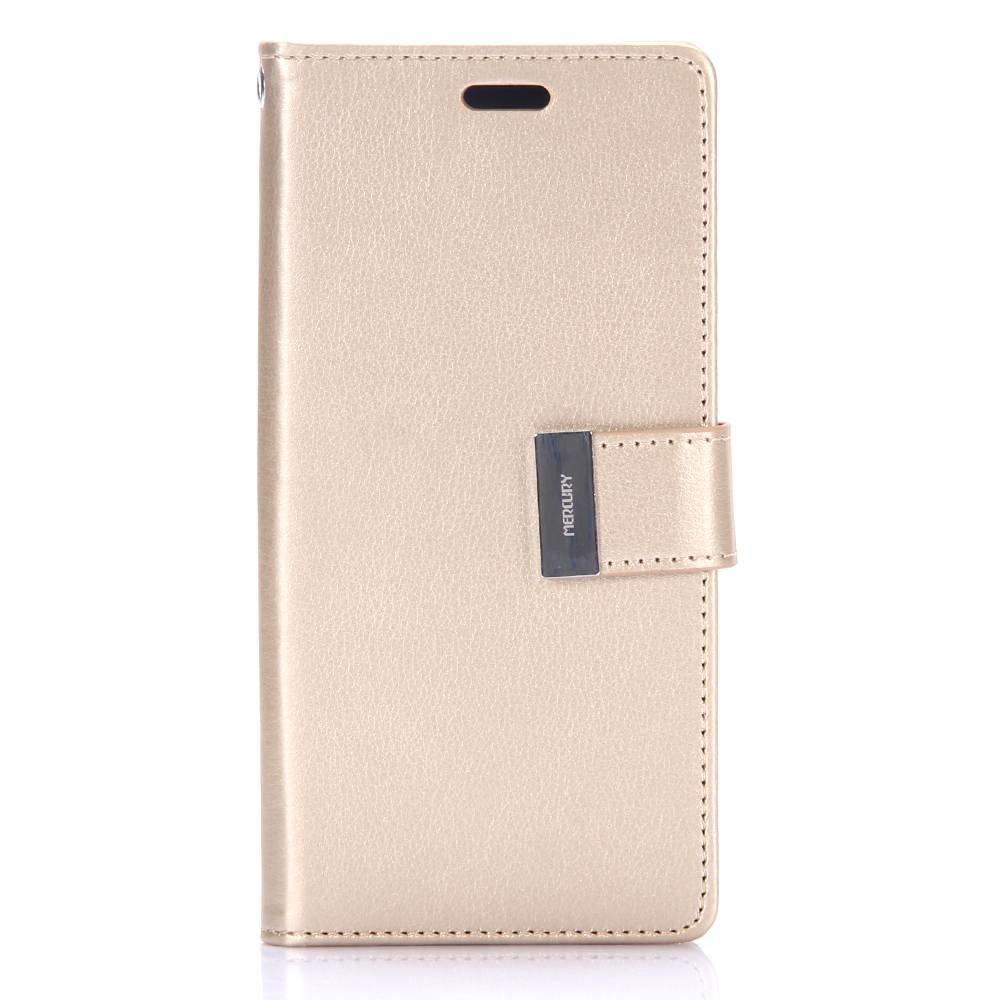 Goospery Gouden samsung Galaxy S8 portemonnee hoesje