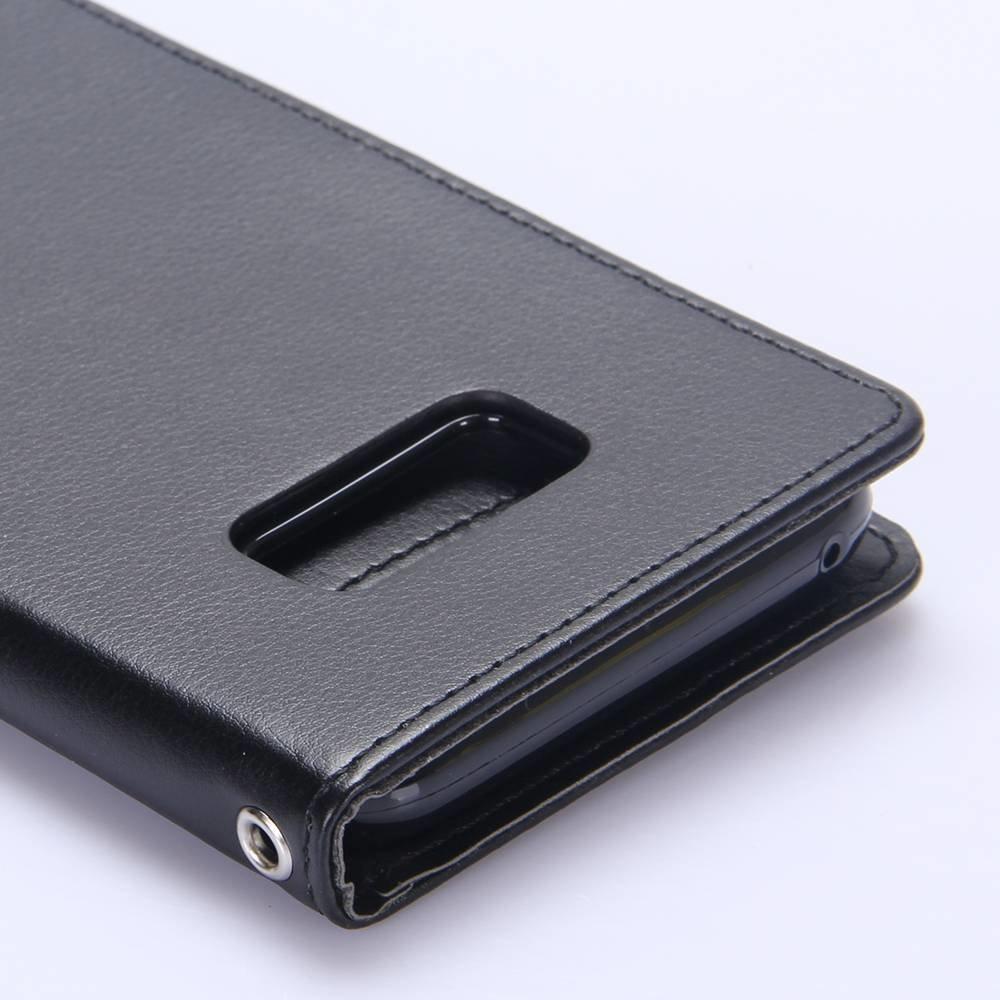 Goospery Zwarte samsung Galaxy S8 portemonnee hoesje