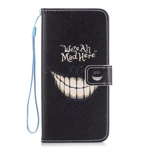 Samsung Galaxy S8 portemonnee hoesje We're all mad here