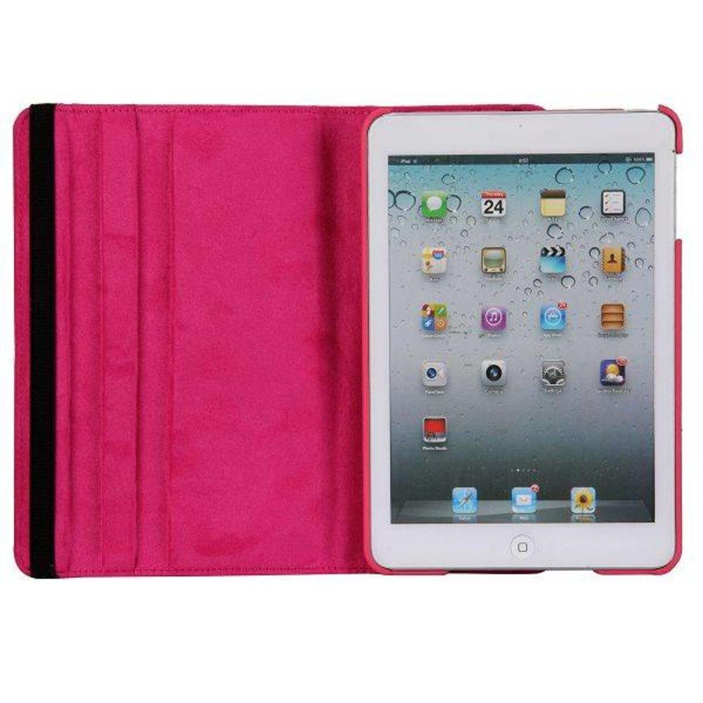 iPad Mini 1/2/3 hoes 360° roteerbaar leder Roze