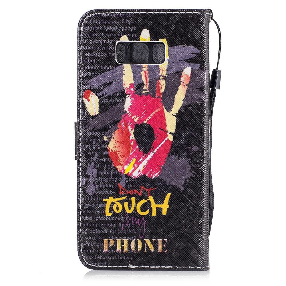 Samsung Galaxy S8 portemonnee hoesje Don't touch my phone #4