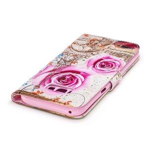 Samsung Galaxy S8 portemonnee hoesje Roze rozen