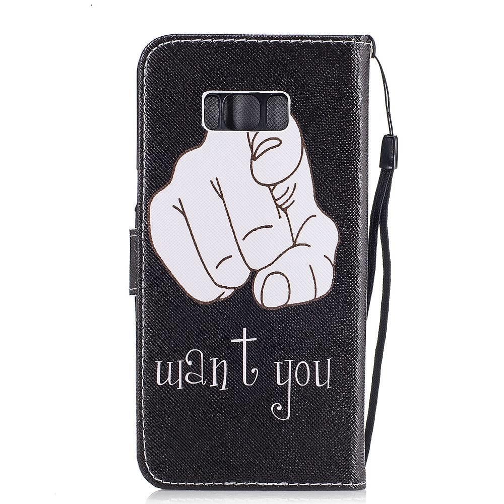Samsung Galaxy S8 portemonnee hoesje Want You