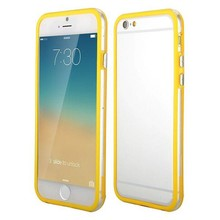 iPhone 6 bumper geel/transparant