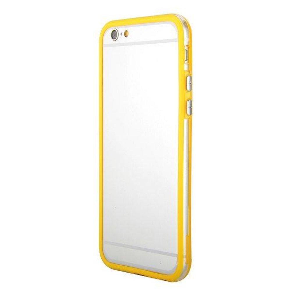 iPhone 6 bumper geel/transparant