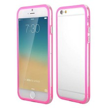 iPhone 6 bumper roze/transparant