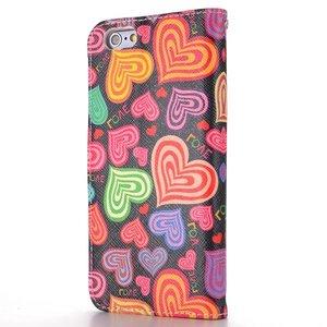 Hartjes iPhone 6 portemonnee hoes