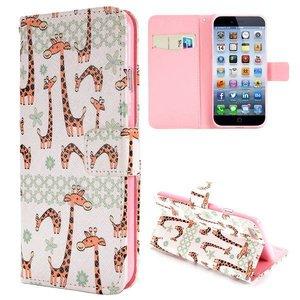 Girafjes iPhone 6 portemonnee hoes