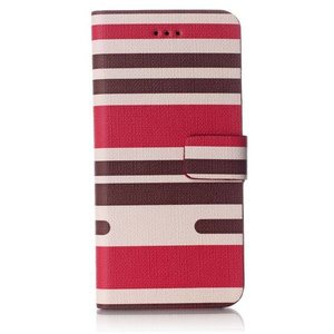 Rood gestreepte iPhone 6 portemonnee hoes