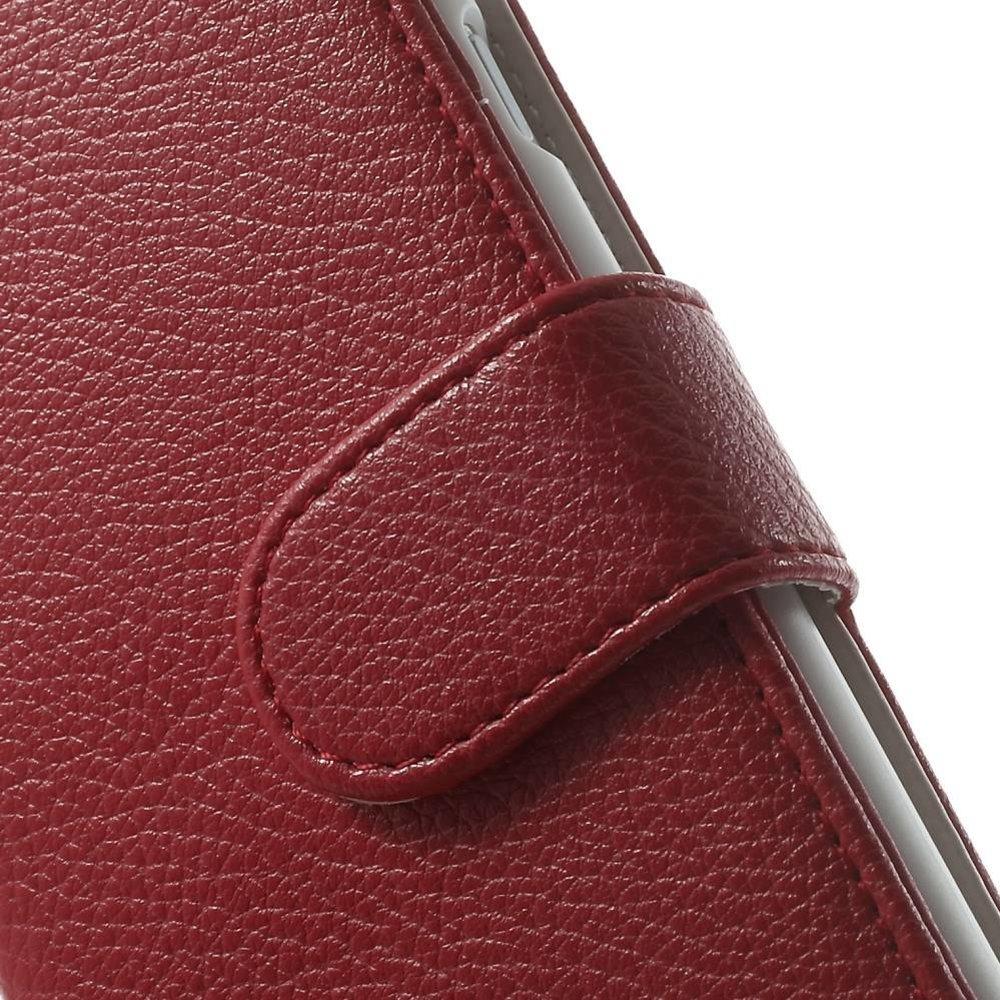 Rood pu lederen iPhone 6 portemonnee hoes