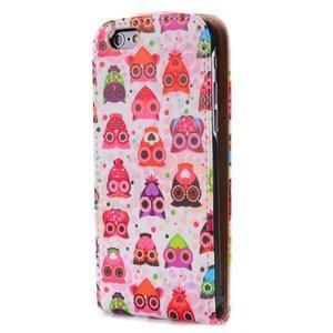 Kleurrijke uiltjes iPhone 6 Flipcase