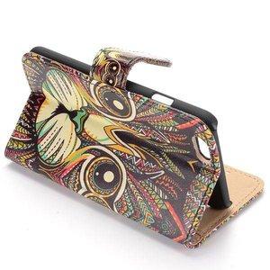 Tribal katje iPhone 6 portemonnee hoes