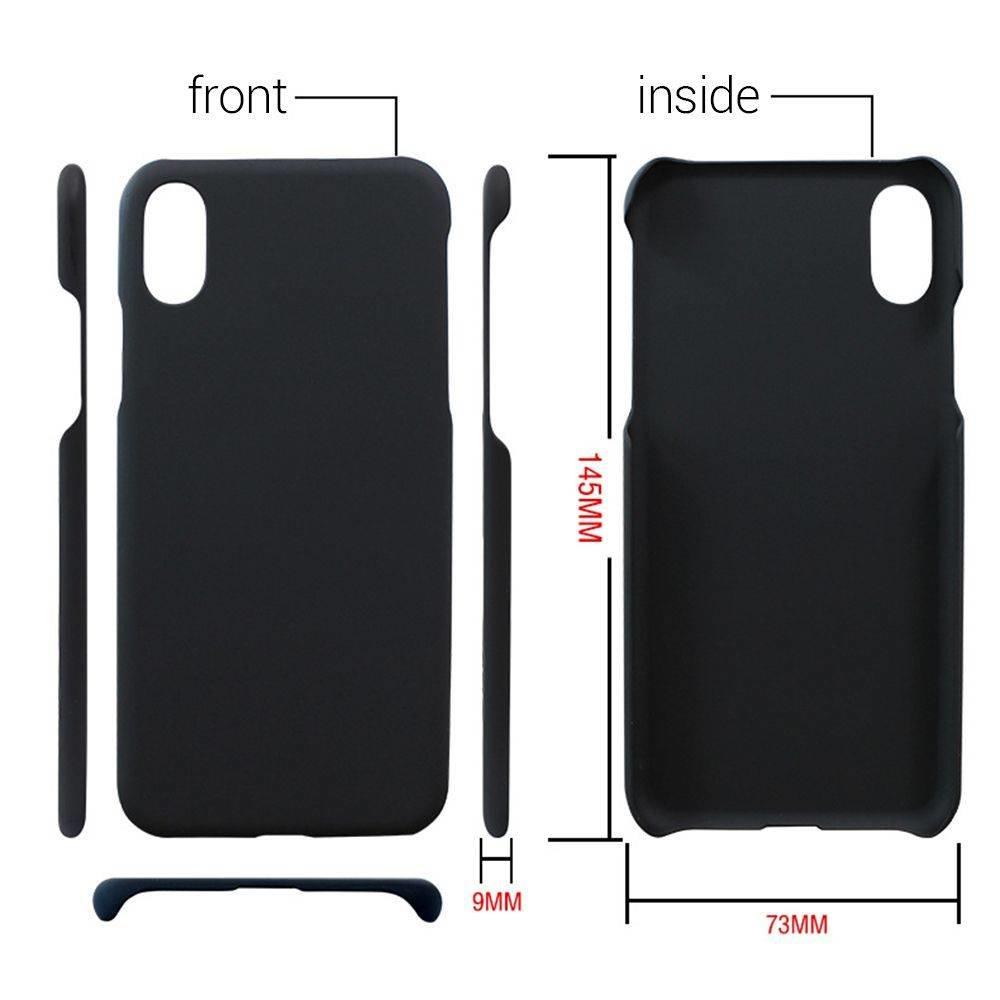 Zwarte hardcase anti vingerafdruk voor de iPhone X