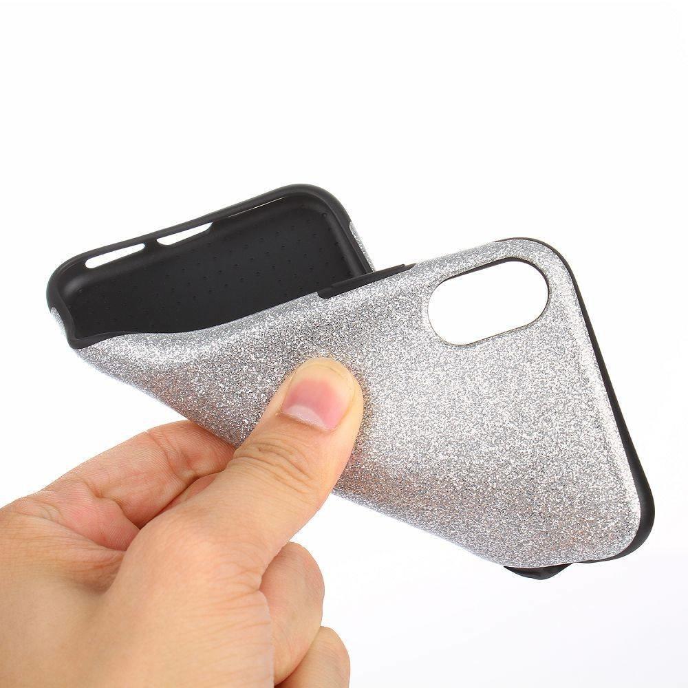 Zilver glitter. Iphone X