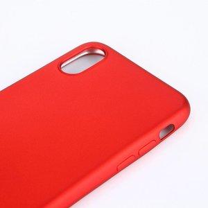 Rood flexibel iPhone X TPu hoesje metallic paint