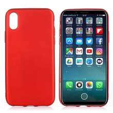 Rood flexibel iPhone X TPu hoesje metallic paint