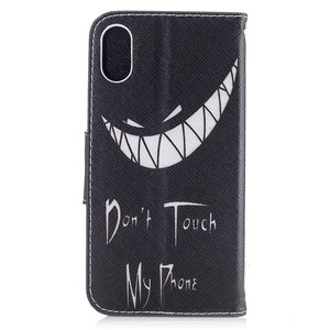 Dont touch my phone iPhone X portemonnee hoesje