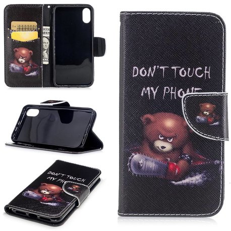 Dont touch my phone beer iPhone X portemonnee hoesje