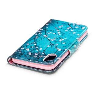 Bloesem iPhone X portemonnee hoesje