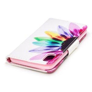 Kleurrijke bloemenprint iPhone X portemonnee hoesje