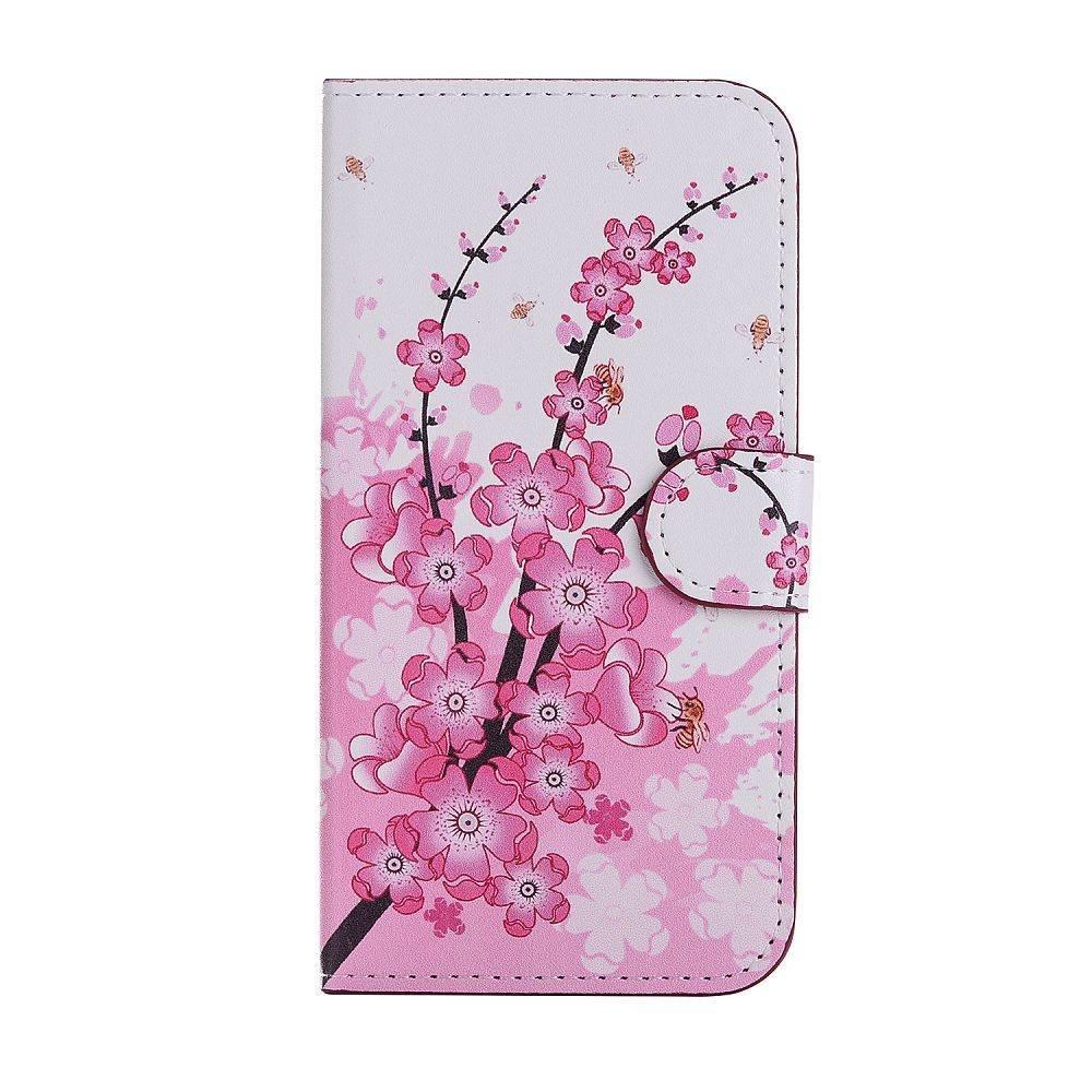 iPhone X portemonnee hoesje perzikken bloesem