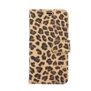 Luipaard bruin  iPhone X Portemonnee hoesje