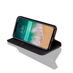 iPhone X Portemonnee hoesje zwart Horse pattern